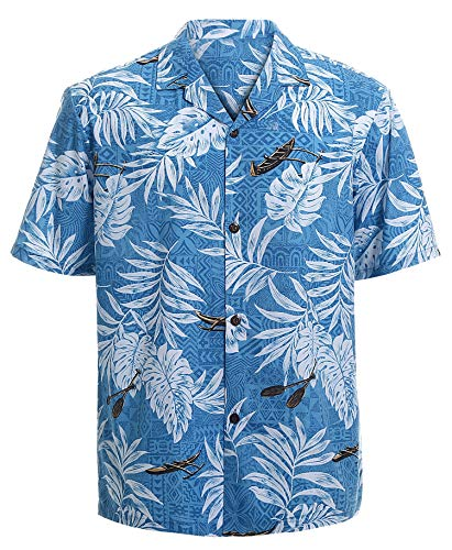 Hawaiian Shirts for Men Short Sleeve Regular Fit Mens Floral Shirts (YH1902,L)