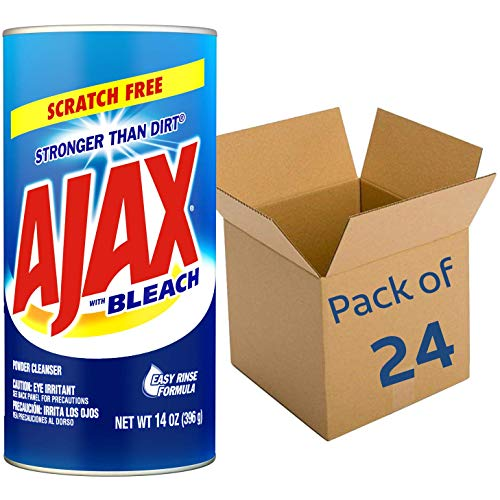 AJAX Powder Cleanser with Bleach - 14 Ounce - Pack of 24 (195360)