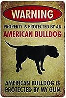 SHanguoYレトロおかしい金属錫サイン12x 16インチ(30 * 40 cm)犬ブリキ看板警告通知パブクラブカフェホームレストラン壁の装飾アートサインポスター(jfd-3-15)