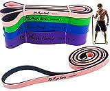 Physix Gear Sport Banda elástica Fitness, Las Mejores Bandas de Resistencia para Fortalecer los músculos, Gomas elásticas musculación con Bolsa de Transporte y guía de vídeo, 1 Banda, Rosa