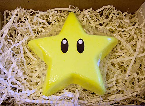 Super Star Bros Nerd Bath Bomb Gift For Him, Starman Kid Bath Bombs, Super Galaxy Birthday Party Favor Luma Geek Gifts