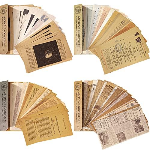 240 Pezzi Carta per Album Vintage Lettera di Carta per Materiale di Scrapbooking Vintage Raccolta Decorativa Antica Retrò per Scrapbooking Fai da Te Diario di Artigianato Artistico