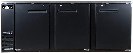 SALE! XILTEK 90? THREE DOOR BACK BAR BEER COOLER REFRIGERATOR/BEER FRIDGE/Beverage Refrigerator/Counter height Refrigerator