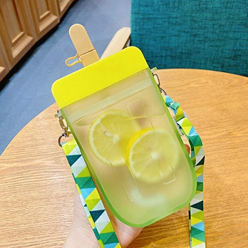 Botella Deportiva Nueva Botella De Agua De Plástico Botella Transparente Portátil Jugo De Fruta Paja A Prueba De Fugas Deporte Al Aire Libre Viaje BOT