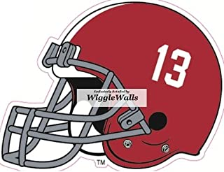6 Inch Football Helmet University of Alabama Crimson Tide ACT Logo Removable Wall Decal Sticker Art NCAA Home Room Decor 6 by 5 Inches