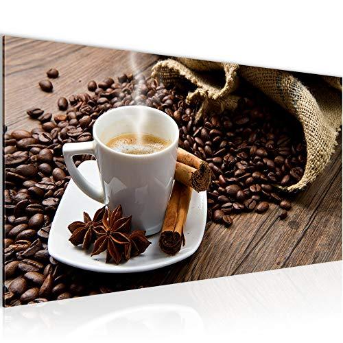 Wandbilder Küche Kaffee Modern Vlies Leinwand Wohnzimmer Flur Coffee Braun 501812a