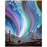 DFGAD 5D Diy Mosaic Diamond Embroidery Colorful Sky Landscape Broderies Diamond Painting Full Round Rhinestones