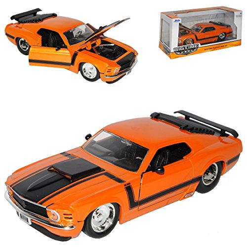 Ford Mustang Boss 302 Coupe I Orange 3. Generation 1969-1970 1/24 Jada Modell Auto