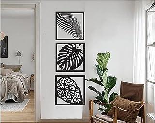 300Sparkles Leaf Design Wooden Wall Hanging Frame 3 Pcs. Set,3 Leaf Design , Home, Bedroom ,Living Area ,Office, Cafe, Wal...