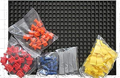 Organizer Genie 76 Piece Pegboard Tool Organizer Starter Kit, Flexible and Specially Designed to Hold All Tools - 4 Modular Peg Boards (11 x 7-5/8 x 7/16 inch), 36 Socket Holders, 36 Universal Clips