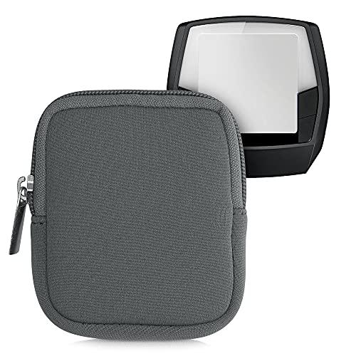kwmobile Tasche kompatibel mit Bosch Intuvia - E-Bike Computer Neopren Hülle - Schutztasche Titanium Grey