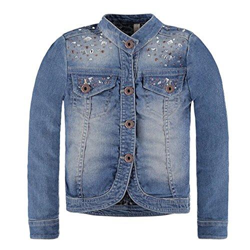 Pampolina Mädchen Jacke Jacke Jeans, Blau (Light Blue Denim 0014), 110
