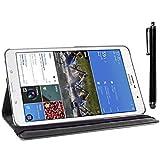 ebestStar - kompatibel mit Samsung Galaxy Tab Pro 8.4 Hülle SM-T320 Rotierend Schutzhülle Etui, Schutz Hülle Ständer, Rotating Hülle Cover Stand + Stift, Schwarz [Tab: 219 x 128.5 x 7.2mm, 8.4'']