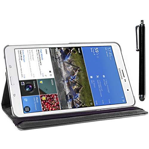 ebestStar - kompatibel mit Samsung Galaxy Tab Pro 8.4 Hülle SM-T320 Rotierend Schutzhülle Etui, Schutz Hülle Ständer, Rotating Case Cover Stand + Stift, Schwarz [Tab: 219 x 128.5 x 7.2mm, 8.4'']