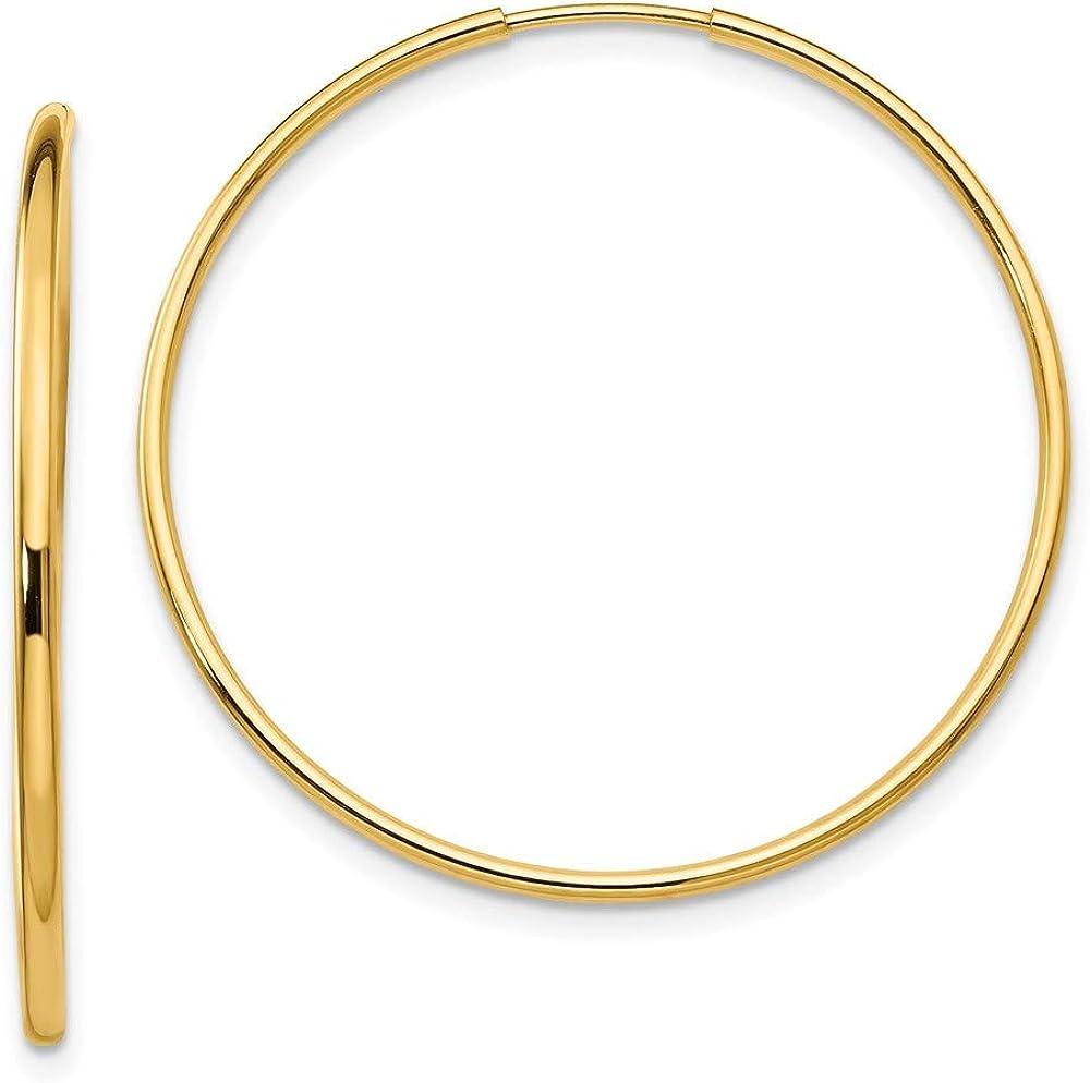 14k Madi K Endless Hoop Earrings 33mm 33mm style SE188