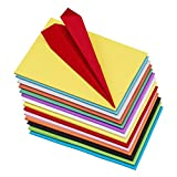 Pack of 100 A4 Size Assorted Color Sheets Copy Printing Papers Smooth Finish Home, School, Office Stationery