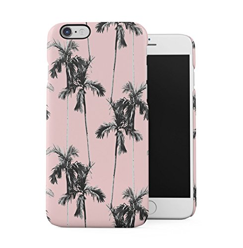 DODOX Palm Trees Good Vibes Pink Pastel Summer Pattern Tumblr Case Compatible with Apple iPhone 6 Plus/iPhone 6S Plus Snap-On Hard Plastic Protective Shell Cover Carcasa