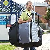 aktivelo Fahrrad Transporttasche inkl. Tragegurt, Aufbewahrungstasche für Falträder bis 20 Zoll, Schutzhülle mit Polsterung zum Schutz vor Beschädigung, ideal für Pendler und Urlauber, Outdoor - 2