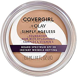 COVERGIRL & OLAY Simply Ageless Instant Wrinkle Defying Foundation, Medium Light, 0.4 oz (Packaging May Vary)