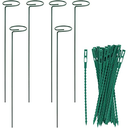 40 Pieces Adjustable Garden Ties Use for Indoor or Outdoor Plastic Plant Support Straps for Flowers Vegetables Plants Shrubs Helps Train or Fix Plants to Support