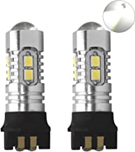 shunyang Car 10 LED PW24W Replacement DRL Lamps Backup Lamp 3030 PW24W 10SMD Bulbs Turning Signal Lamp 2pcs (White)