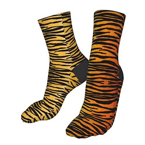 Animal Print Tiger Negro Oro Calcetines De Compresión Unisex Impreso Calcetines Loco Estampados Diversión...