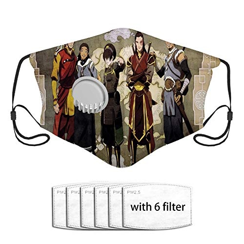 Qefgjbw Zuko Face Pañuelo de boca de polvo de poliéster con 6 filtros