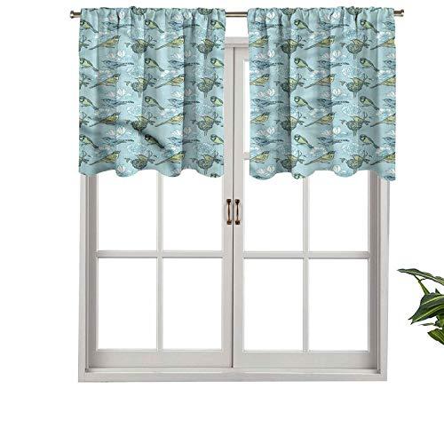 Hiiiman Sunshine Blockout cortina de huevos descansando en flor nido juego de 1, 127 x 45 cm para salón comedor interior