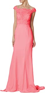 Chiffon Long Prom Dresses Lace Bridesmaid Dress Off Shoulder Wedding Party Evening Gowns