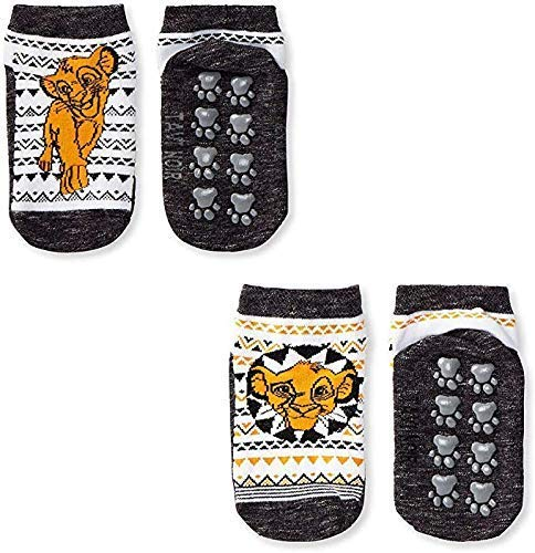 Tavi Noir (TAVI8) Tavi Noir Tiny Soles, Lion King Calcetines, Paquete de 2, Pequeños Socks, Unisex niños, Black and Yellow, S