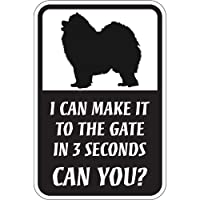 CAN YOU?マグネットサイン:サモエド(レギュラー) I CAN MAKE IT TO THE GATE IN 3 SECONDS, CAN YOU?.