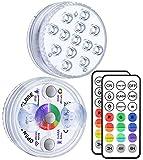 Alilimall Unterwasser Licht mit Fernbedienung RF, 3 Magnet, 13-LED RGB...