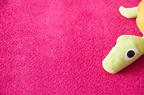 Steffensmeier Teppichboden Cambridge Young Meterware | Auslegware für Kinderzimmer Wohnzimmer Schlafzimmer | Pink, Größe: 200x100 cm