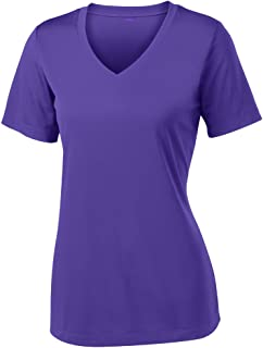 Women's Short Sleeve Moisture Wicking Athletic Shirts Sizes XS-4XL