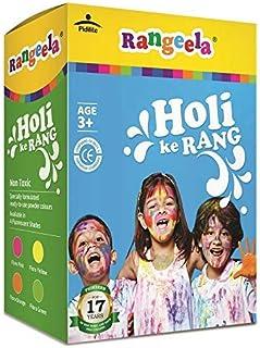 Pidilite Rangeela Holi Ke Rang - 4 Shades Gulal Natural Holi Colours Non Toxic Colors, 300g