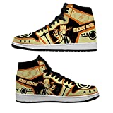 Mens Womens Fashion Cool Anime Printing Custom High-Top Breathable Basketball Shoes Classic Japan Anime Naruto Bijuu Mode Lace-Up Art Running Shoes Outdoor Non-Slip Work Shoes Lightweight Sneakers 40