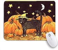 VAMIX マウスパッド 個性的 おしゃれ 柔軟 かわいい ゴム製裏面 ゲーミングマウスパッド PC ノートパソコン オフィス用 デスクマット 滑り止め 耐久性が良い おもしろいパターン (ハロウィンかぼちゃと黒猫)