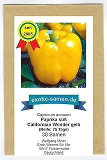 Golden Californian Wonder - süßer Paprika - 30 Samen