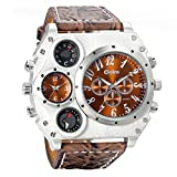 Avaner Mens Big Face Watch, Unique Cool Military Wrist Watch, Dual...