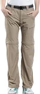JOMLUN Women's Outdoor Pants Zip Off Pants Convertible Breathable Quick Dry