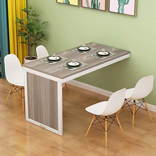 KDDEON Mesa Plegable de Pared,Escritorio de Madera Maciza para Ordenador,Mesas de Bar Convertibles,Mesa de Comedor de Cocina Multifunción,para Banco de Trabajo,con Accesorios (White,100x60x75cm)