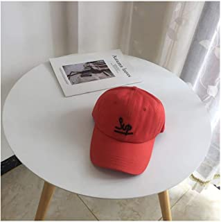 Hats Female Outdoor Wild Sunshade Cap Spring and Summer Cotton Embroidery Letter Baseball Cap Fashion (Color : Orange)