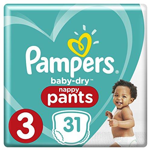 Pampers Baby Dry Pants Windeln Gr. 3 (6-11 kg), 3er Pack (3 x 31 Stück)