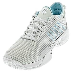 K-Swiss Women's Hypercourt Supreme Tennis Shoe (Barely Blue/White/Blue Glow, 7.5)