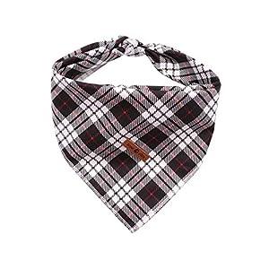 Lionet Paws Dog Bandana Washable Cotton Handkerchief Scarf Triangle Bandana for Small Medium Large Dogs