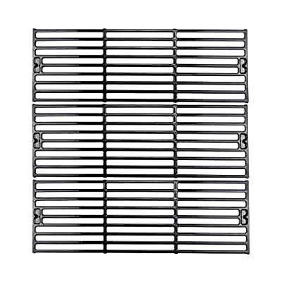 Uniflasy Porcelain Coated Cast Iron Grill Cooking Grid Grates Replacement Parts for Char-Griller Duo 3001, 3008, 3030, 4000, 5050, 5252 King Griller 3008, 5252 (3-Pack)