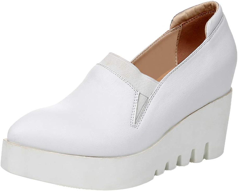Osynliga skor i form av av av skor för skor med Wedge, spetsade skor med Plattformade skor och vita aftonkläder (färg  vitt, storlek  41)  fabriks direkt och snabb leverans