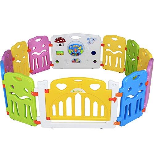 seelux Niños Parque de plástico con puerta y juguetes Board (10+ 2)