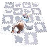 MQIAOHAM alfombra puzzle bebe parque infantil manta suelo grande goma eva...