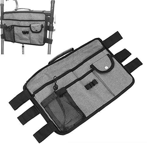 Bolsa para silla de ruedas, mochila para scooter de ayuda a la movilidad de doble cara, bolsa impermeable para reposabrazos, bolsa de almacenamiento para el respaldo de la silla de ruedas para persona